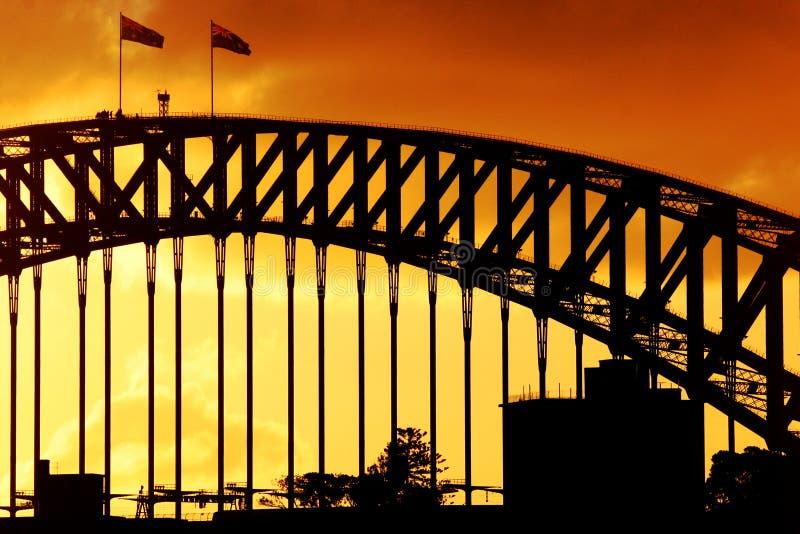 Puesta Del Sol Del Puerto De Sydney Fotografía de archivo