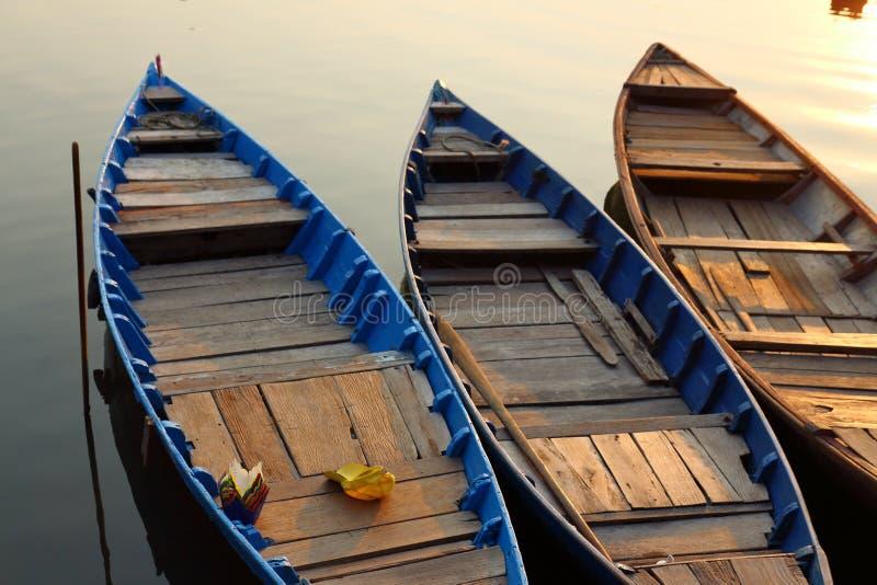 Puesta del sol del río Mekong fotografía de archivo