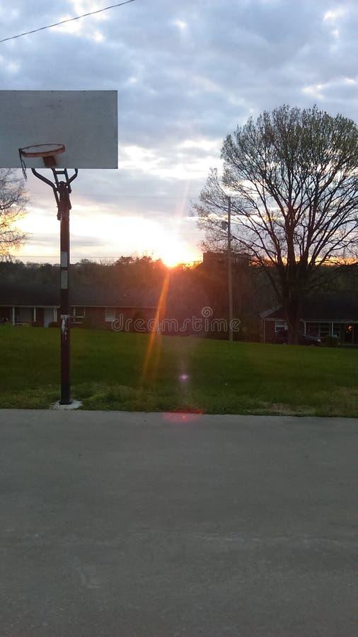 Puesta del sol del suburbio foto de archivo libre de regalías