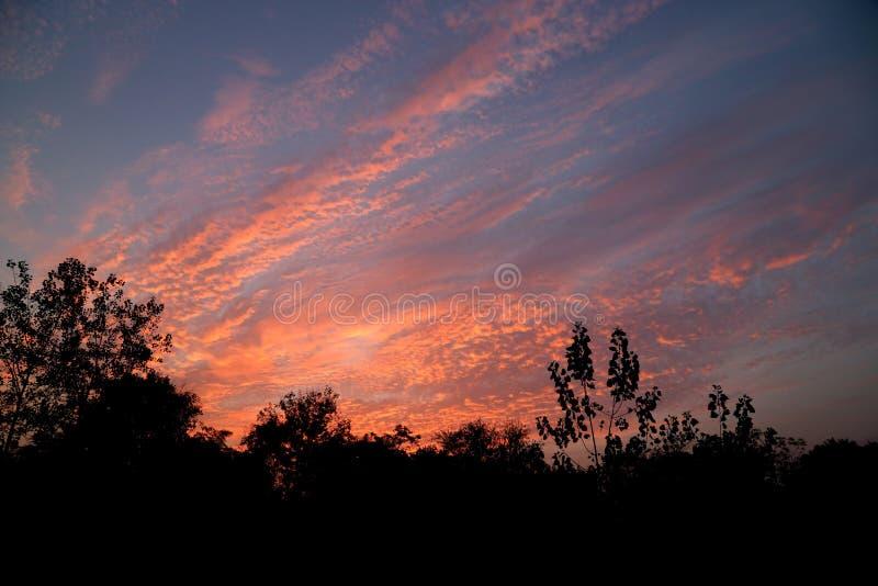 Puesta del sol dramática fotografía de archivo
