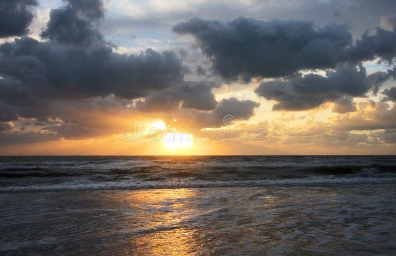 Puesta del sol dramática de la Florida fotos de archivo libres de regalías