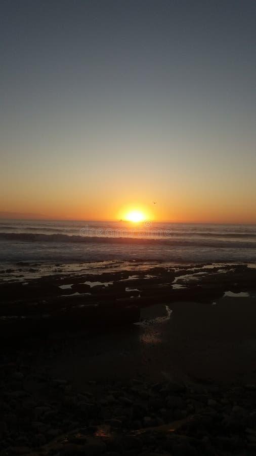 Puesta del sol el sol foto de archivo libre de regalías