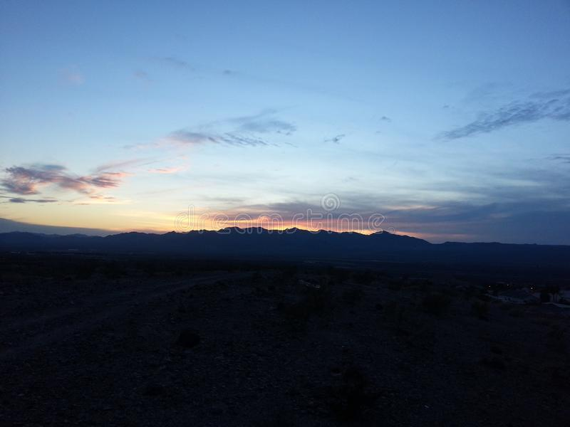 Puesta del sol en Arizona imágenes de archivo libres de regalías