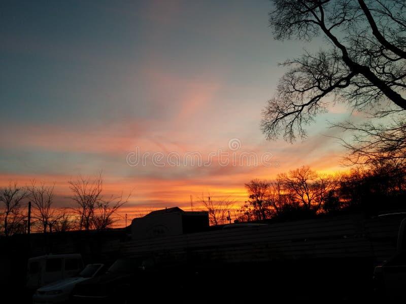 Puesta del sol en Arkansas foto de archivo libre de regalías