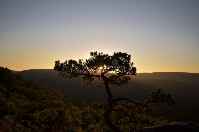 Puesta del sol en Arkansas fotografía de archivo
