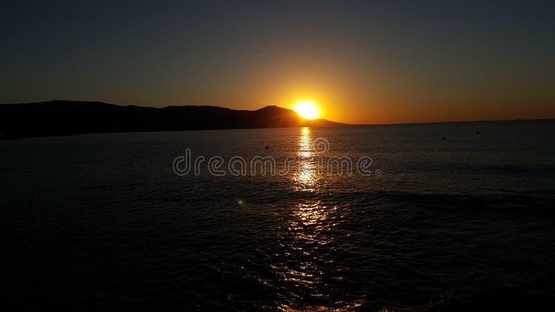 Puesta del sol en Chipre foto de archivo