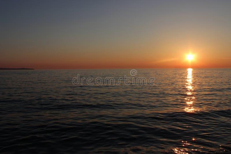 Puesta del sol en Croatia imagenes de archivo