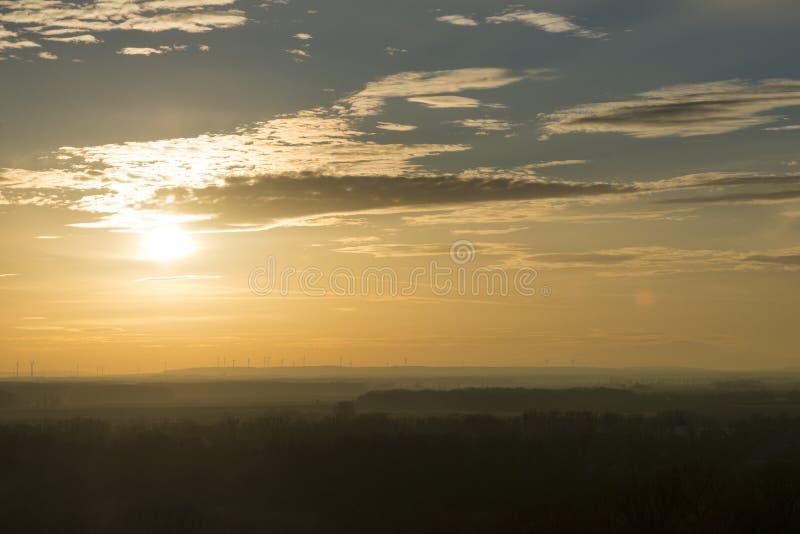 Puesta del sol en Devin fotos de archivo libres de regalías
