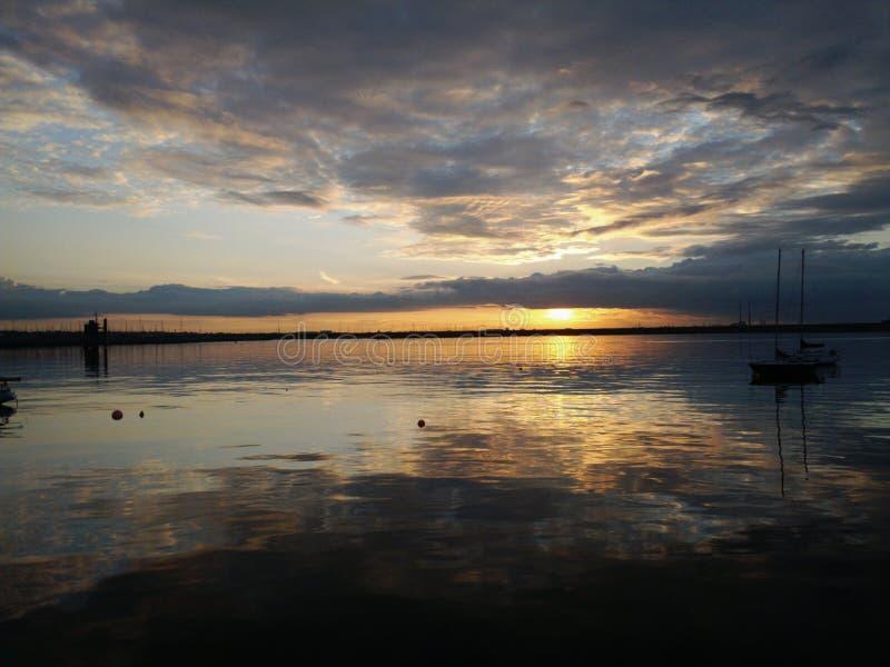 Puesta del sol en Dublín imagen de archivo