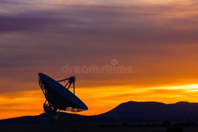 Puesta del sol en el alto desierto de New México foto de archivo