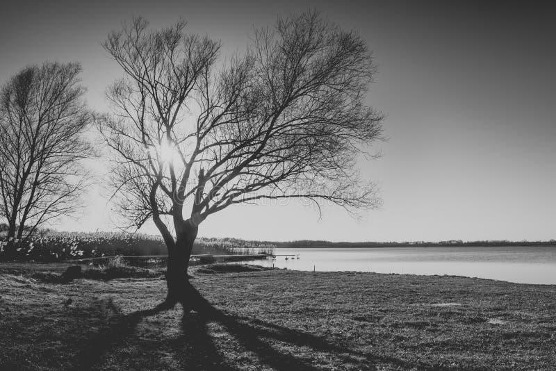 Puesta del sol en el lago del sumin fotos de archivo libres de regalías