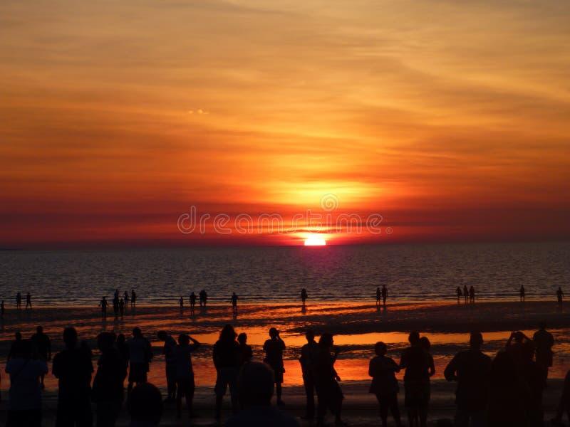 Puesta del sol en el mercado de Mindel, Territorio del Norte imágenes de archivo libres de regalías