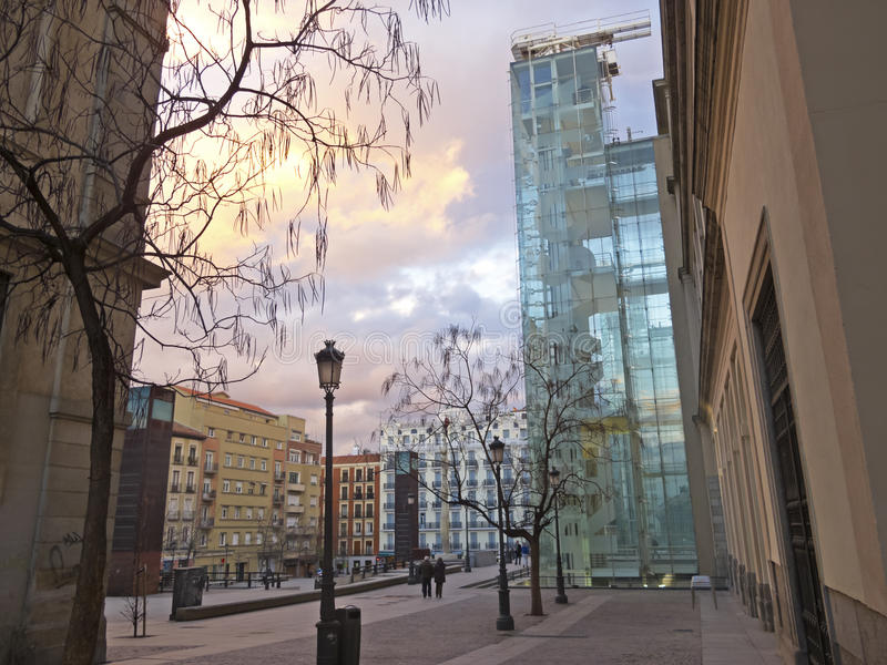 El museo de Sofía de la Reina. Madrid imagenes de archivo