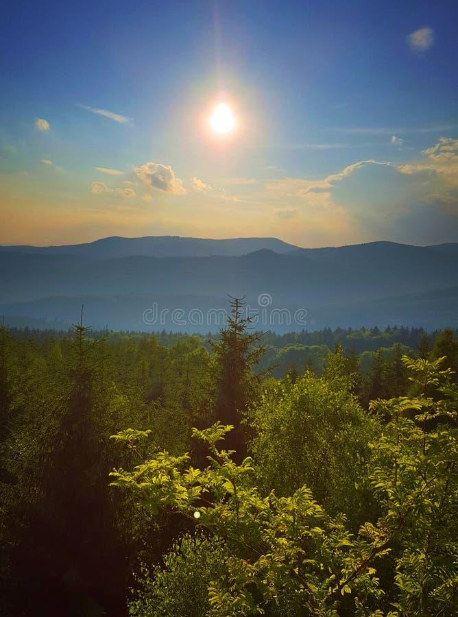 Puesta del sol en el verano imágenes de archivo libres de regalías