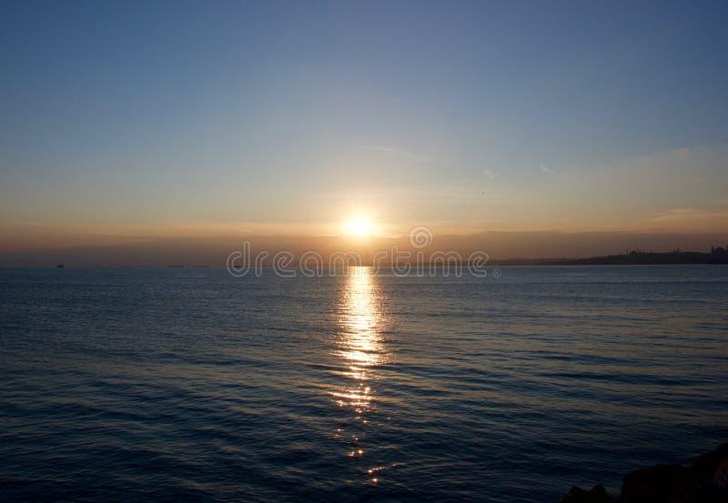 Puesta del sol en Estambul fotos de archivo libres de regalías