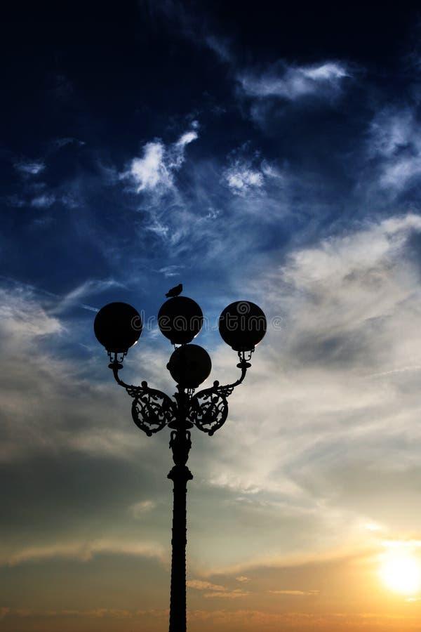 Puesta del sol en Florencia imagen de archivo