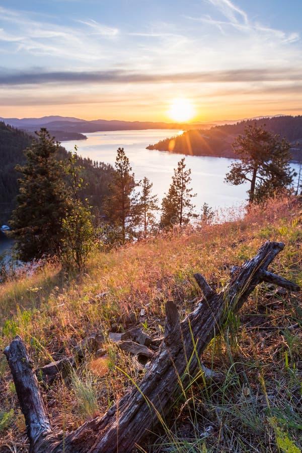 Puesta del sol en Idaho fotos de archivo