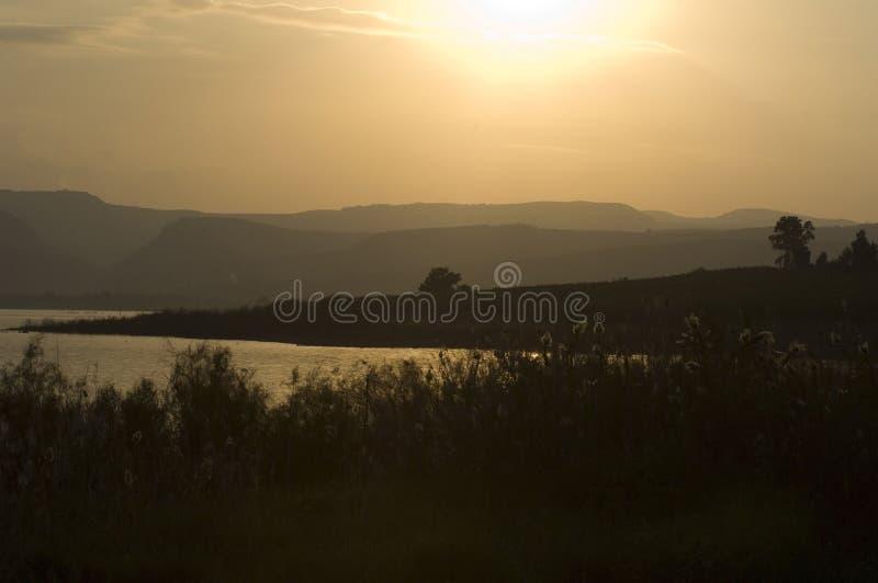 Puesta del sol en Israel foto de archivo libre de regalías