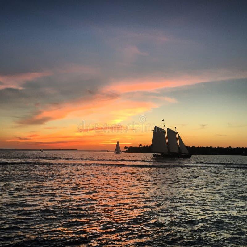 Puesta del sol en Key West fotografía de archivo