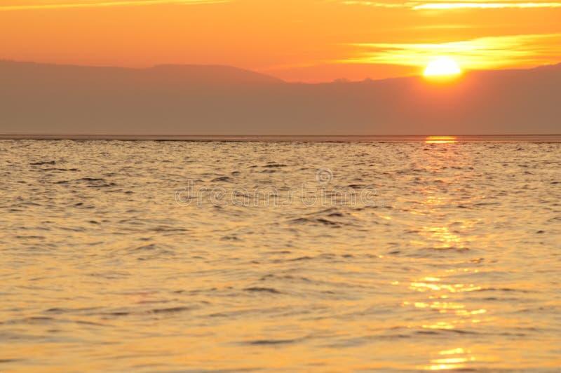 Puesta del sol en Kirby del oeste imagen de archivo