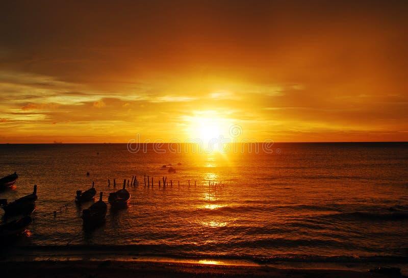 Puesta del sol en Kohlanta imagenes de archivo