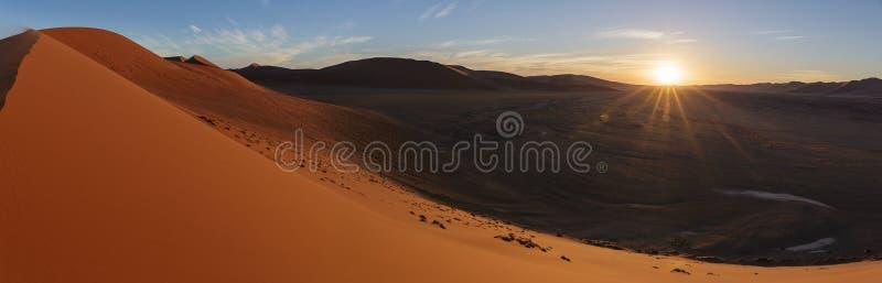 Puesta del sol en la duna 45 imagen de archivo libre de regalías
