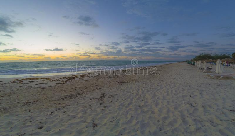 puesta del sol en la isla blanca, cancun Quintana Roo, México fotos de archivo