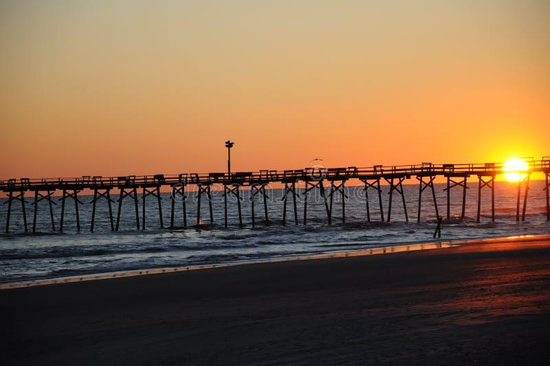 Puesta del sol en la playa foto de archivo libre de regalías