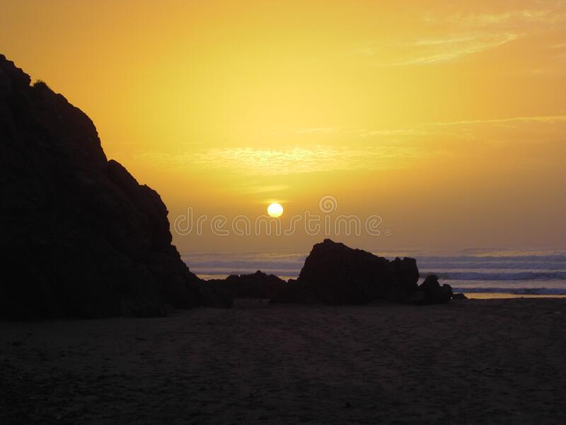 Puesta Del Sol En La Playa Dominio Público Y Gratuito Cc0 Imagen
