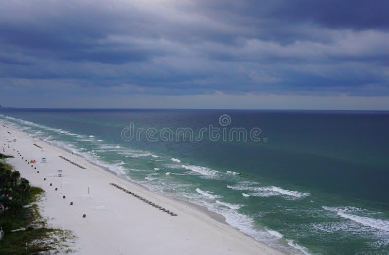 Puesta del sol en la playa la Florida de ciudad de Panamá imágenes de archivo libres de regalías