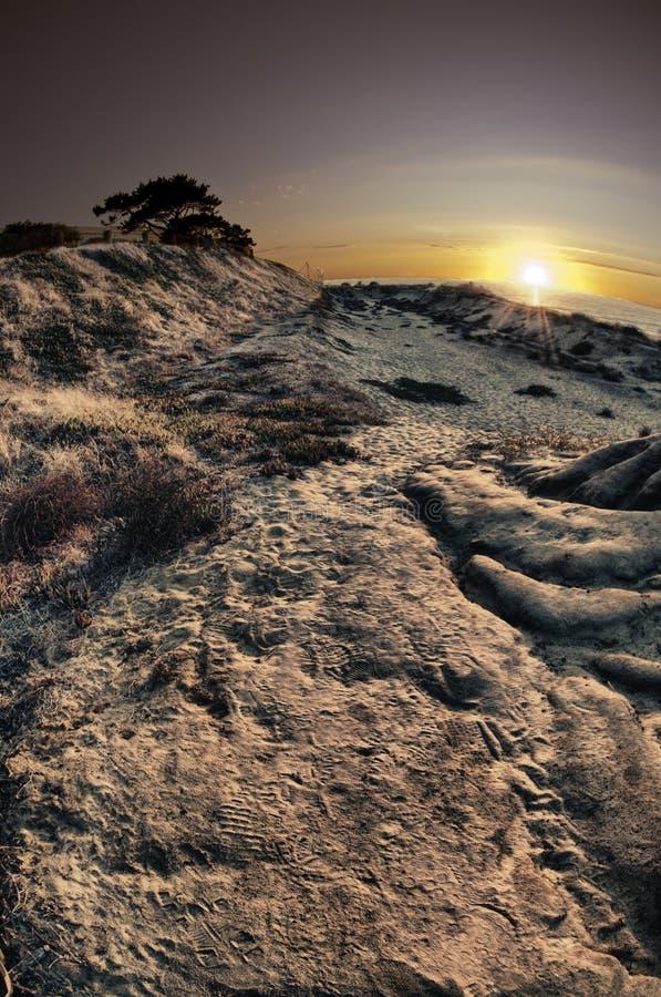 Puesta del sol en la playa San Diego del ponto foto de archivo libre de regalías