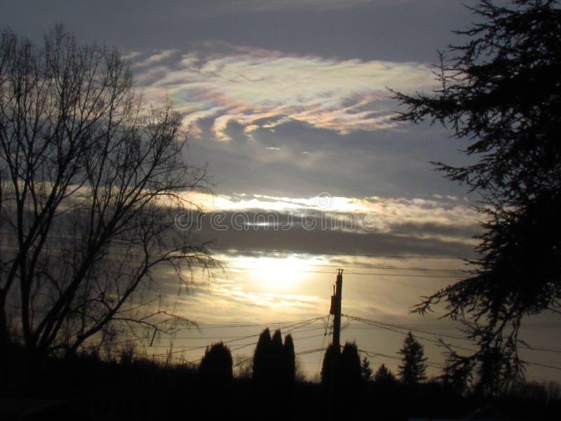 Puesta del sol en la vecindad fotografía de archivo libre de regalías