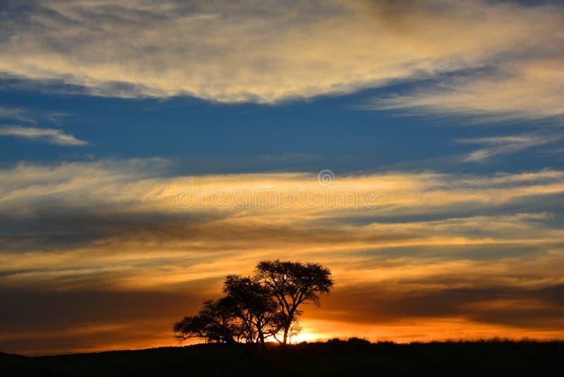 Puesta del sol en Namibia imagen de archivo libre de regalías