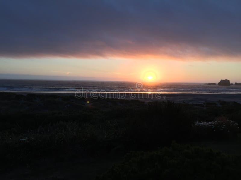 Puesta del sol en Oregon fotografía de archivo
