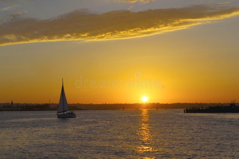 Puesta del sol en San Diego foto de archivo libre de regalías