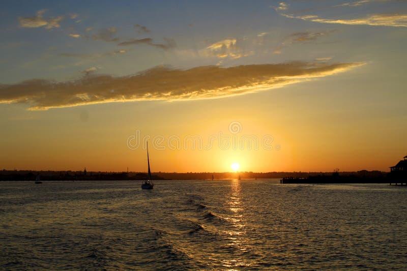Puesta del sol en San Diego fotografía de archivo libre de regalías