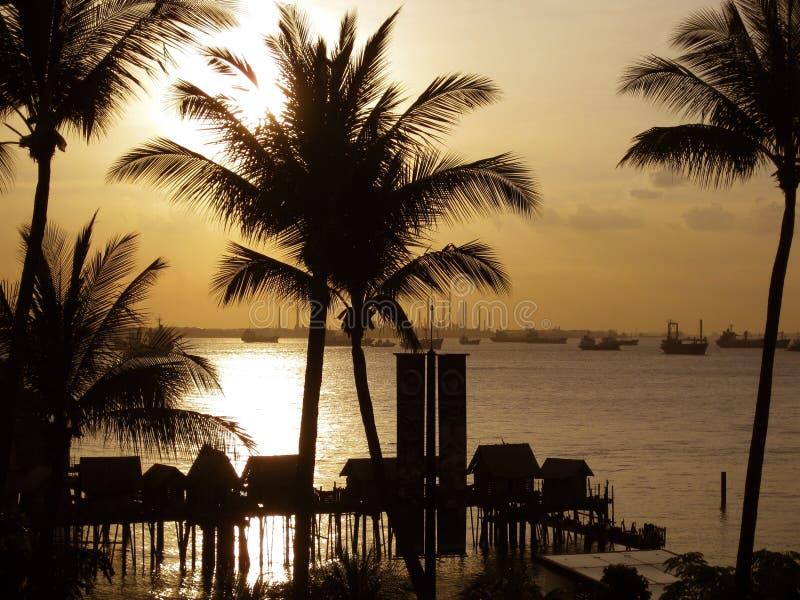 Download Puesta del sol en Sentosa imagen de archivo. Imagen de calming - 64201897