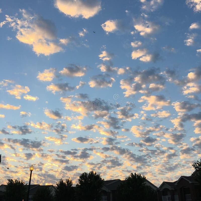 Puesta del sol en Springdale foto de archivo libre de regalías