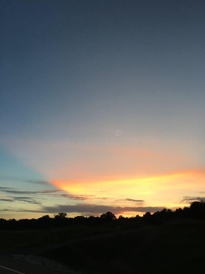 Puesta del sol en Springdale fotografía de archivo libre de regalías