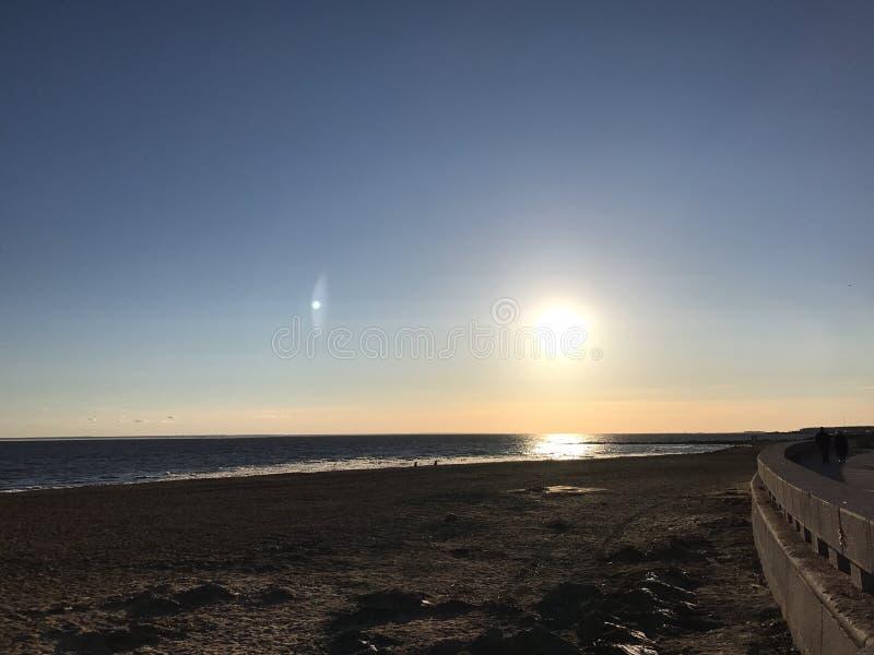 Puesta del sol en St Petersburg foto de archivo libre de regalías
