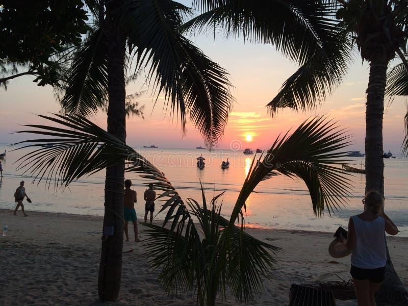 Puesta del sol en Tailandia fotos de archivo libres de regalías