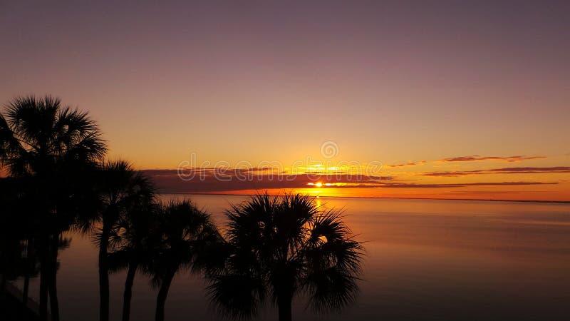 Puesta del sol en Tampa Bay imágenes de archivo libres de regalías