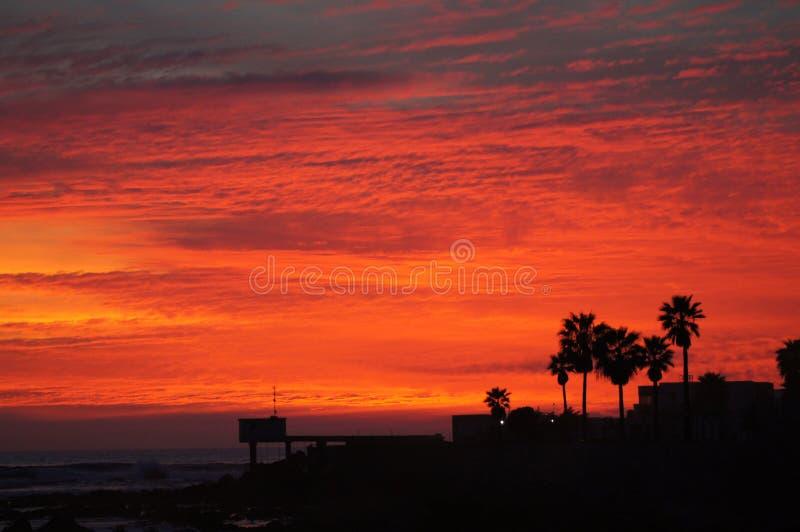 Puesta del sol Ensenada México fotos de archivo libres de regalías