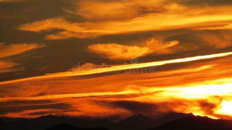 Puesta del sol española espectacular fotos de archivo