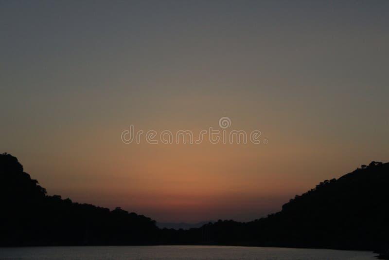 Puesta del sol hermosa 6 imagen de archivo