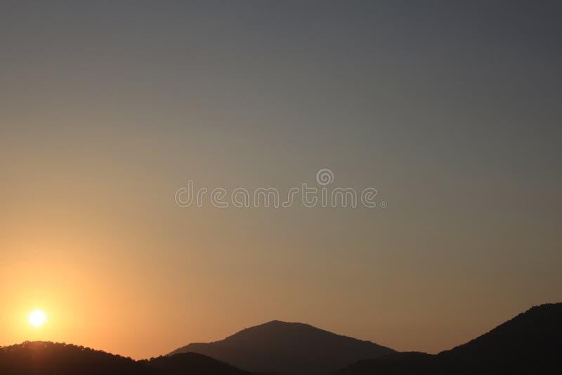 Puesta del sol hermosa 14 foto de archivo libre de regalías