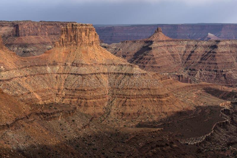 Puesta del sol hermosa cerca del punto Canyonlands Utah de Marlboro foto de archivo libre de regalías