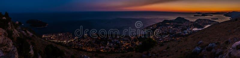 Puesta del sol III de Dubrovnik imagen de archivo