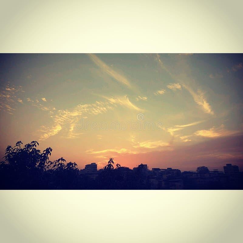 ¡Puesta del sol imponente! fotografía de archivo libre de regalías