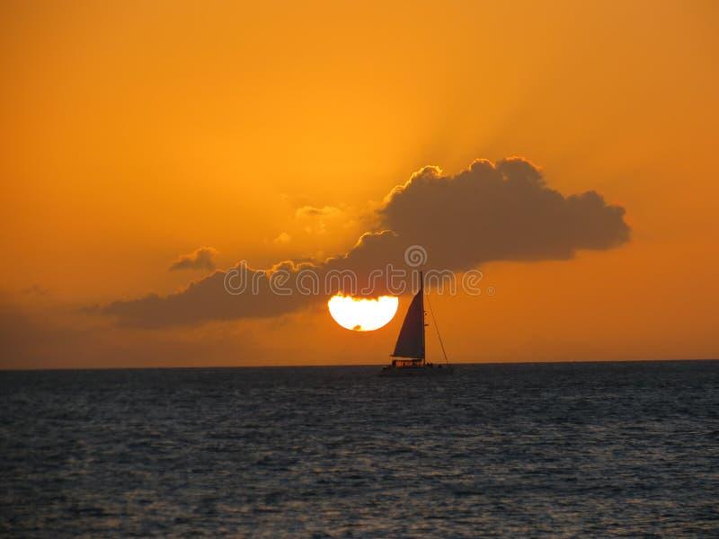Puesta del sol imponente en Key West fotografía de archivo libre de regalías